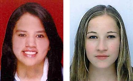 Inbound Adriana Micaela Guzmán Canedo (l.) und Outbound Evelyne Steiner